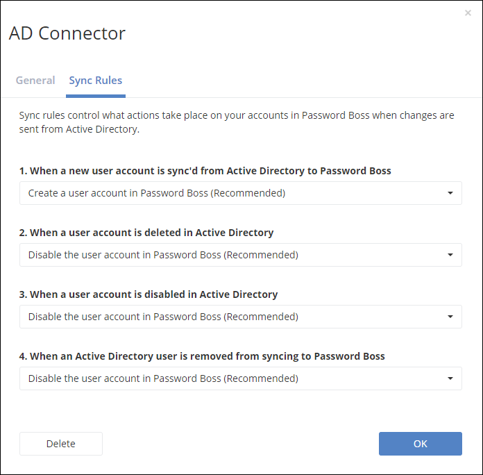 Install and configure the Active Directory Connector – Password Boss